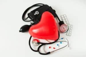 heart health balloon and stethoscope