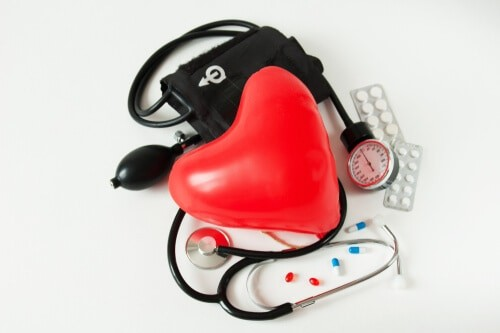 heart health balloon and stethoscope