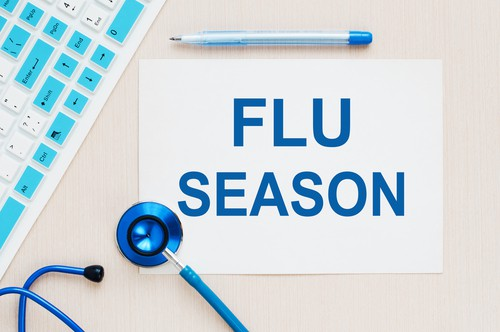calendar of flu season note on right side