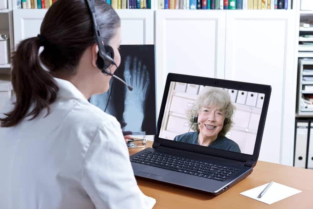 telemedicine visit for a patient at Instant Urgent Care
